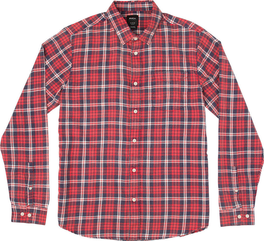 RVCA Sid Long Sleeve Plaid Flannel - 8 One Sneaker House  - 1