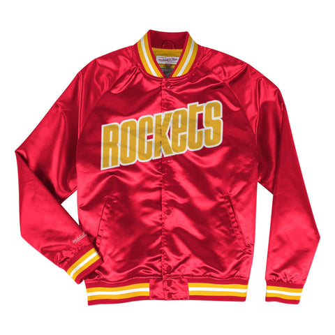 Lightweight Satin Jacket Houston Rockets