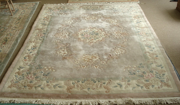Chinese wool Rug 12ft by 9ft. With fringing