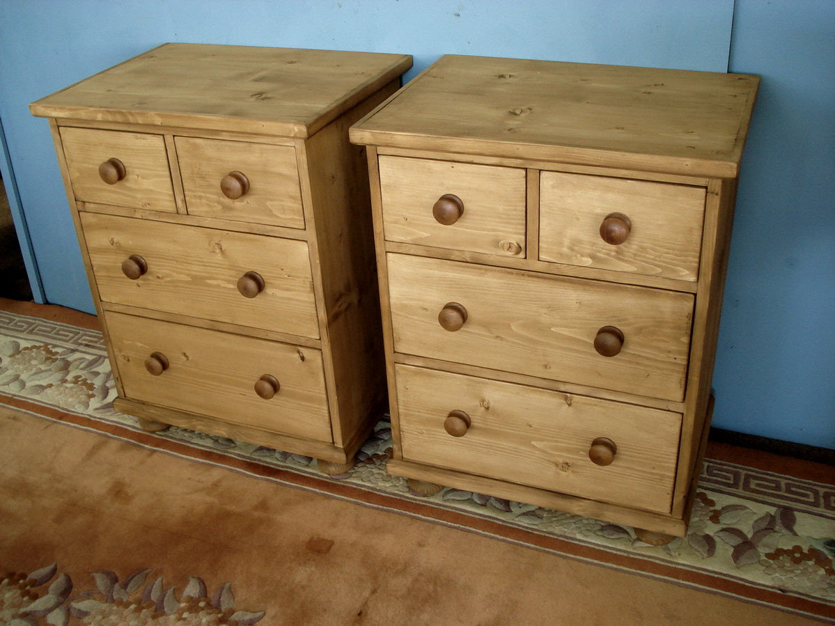 A pair of Made to Measure pine chests of drawers