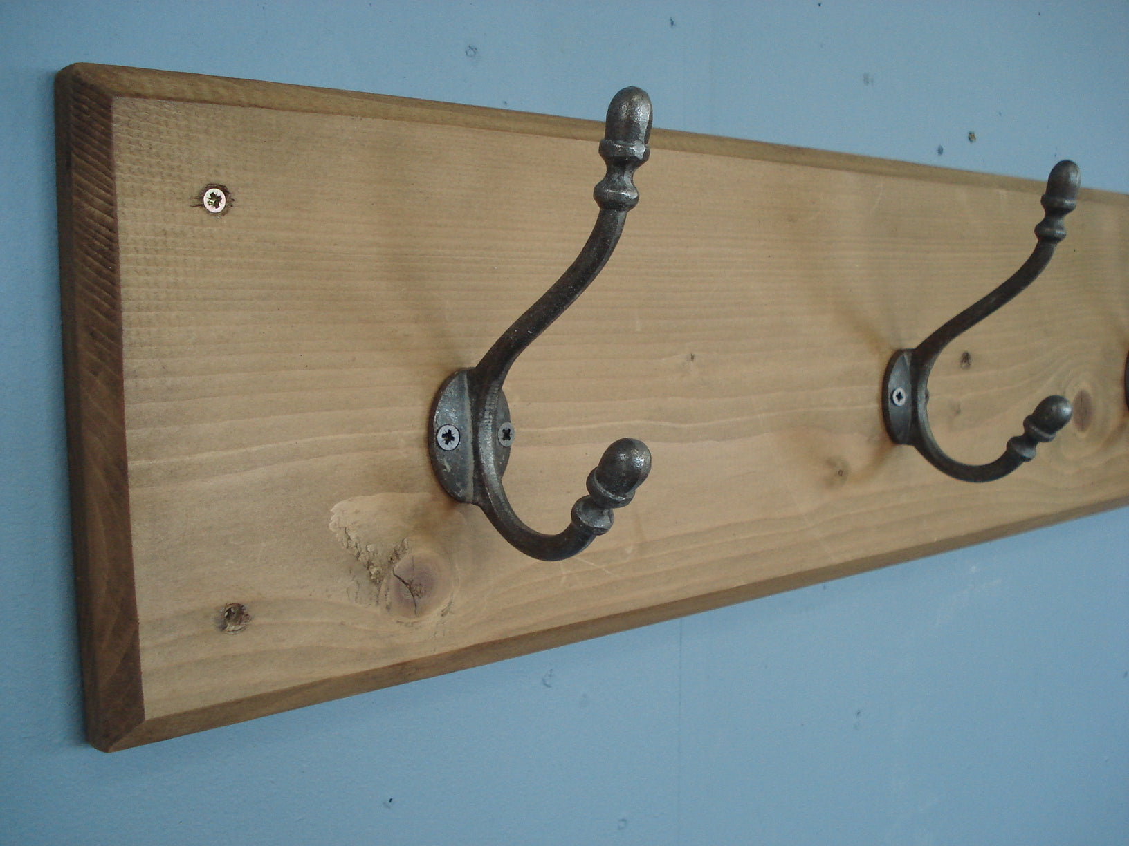 Five Hook Double Acorn Coat Rack