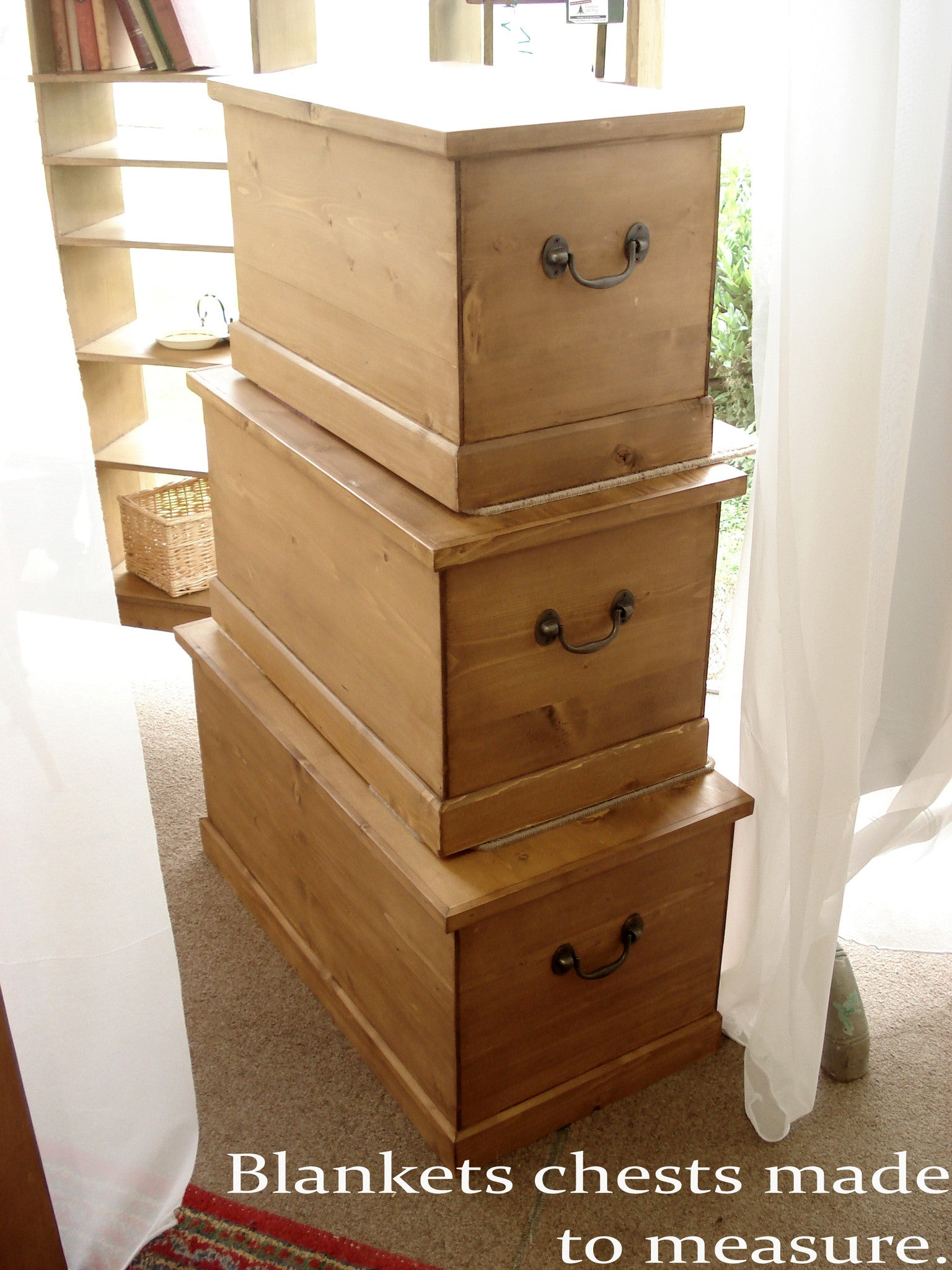 Honey Pine Blanket Chests. See Made to Measure