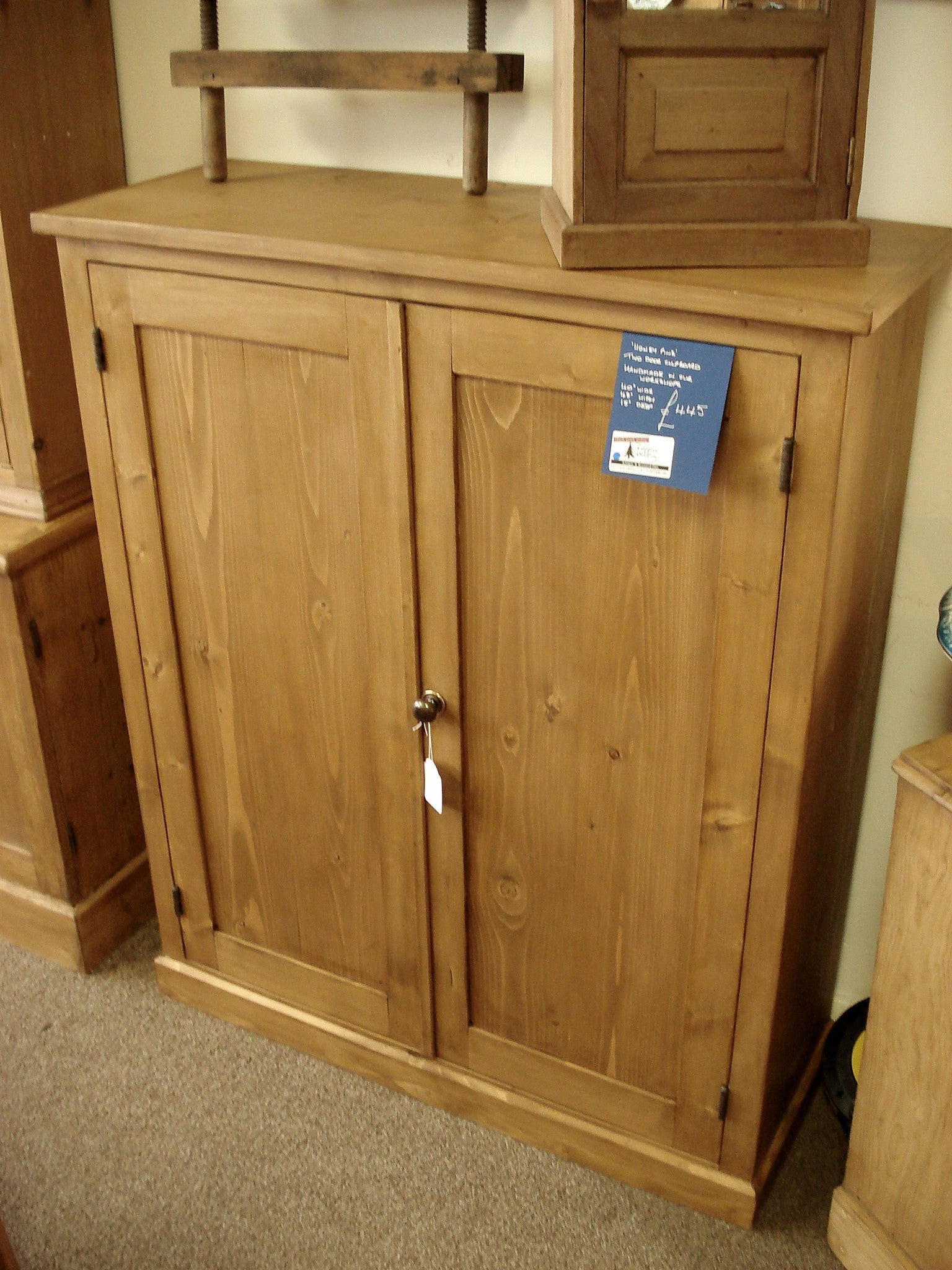 Honey Pine Two Door Cupboard