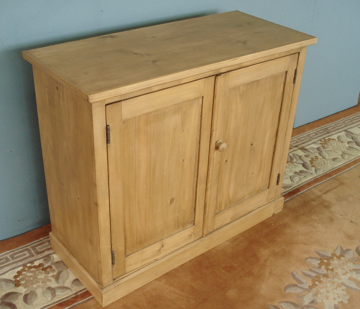 Honey pine two door cupboard, hand made in our workshops