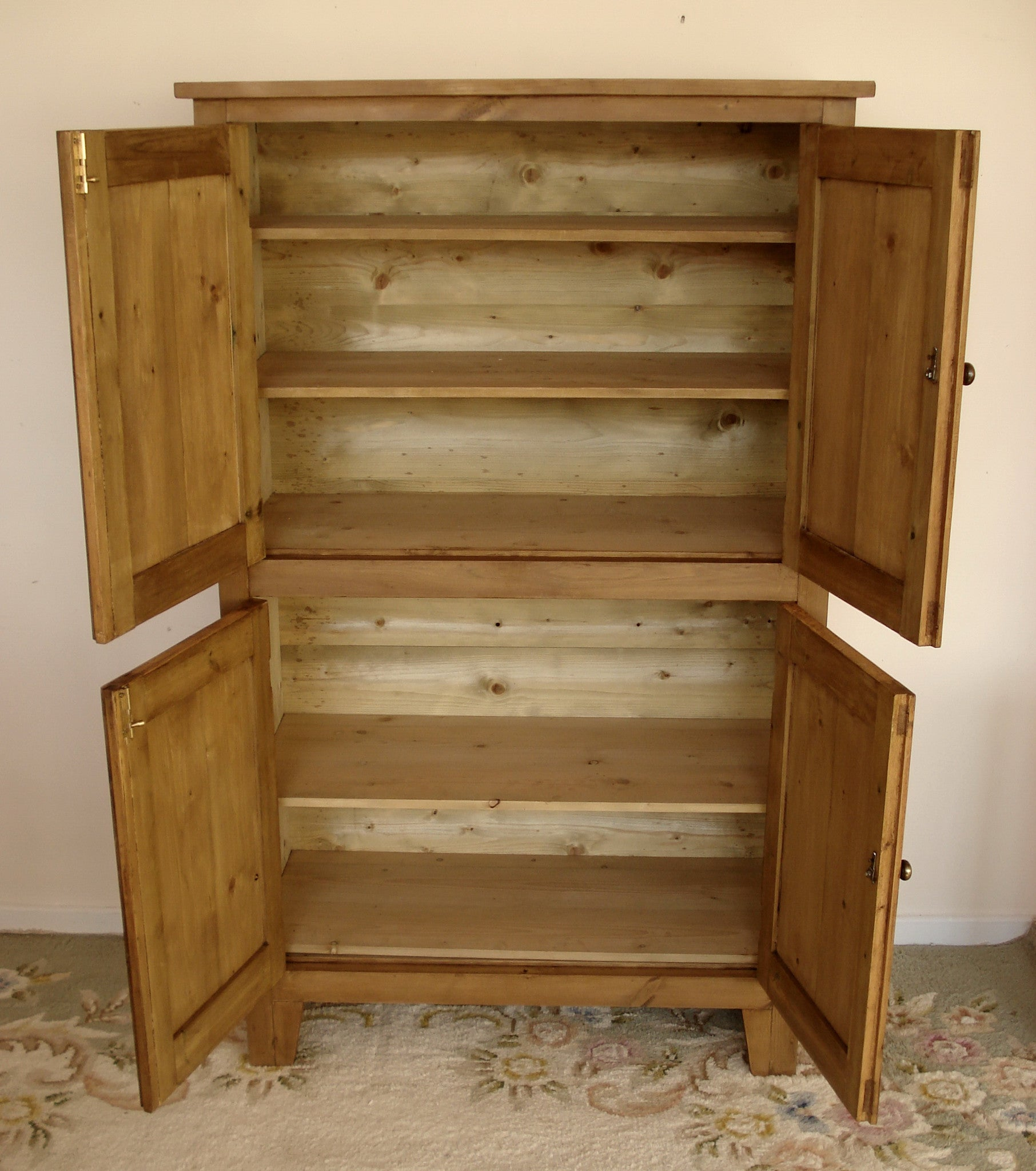 Honey Pine Four Door Cupboard