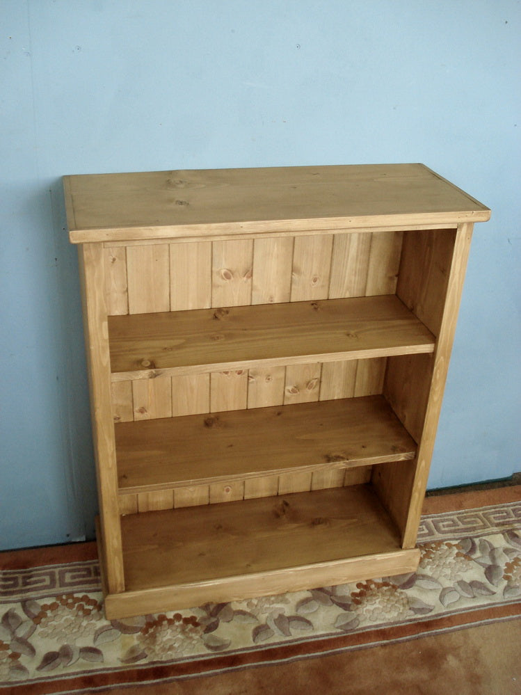Smaller Honey Pine bookshelves Made to Measure