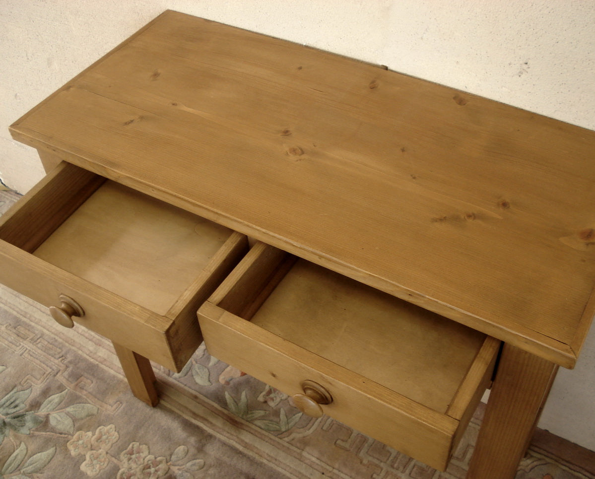 Honey Pine console / writing table. Available Made to Measure.