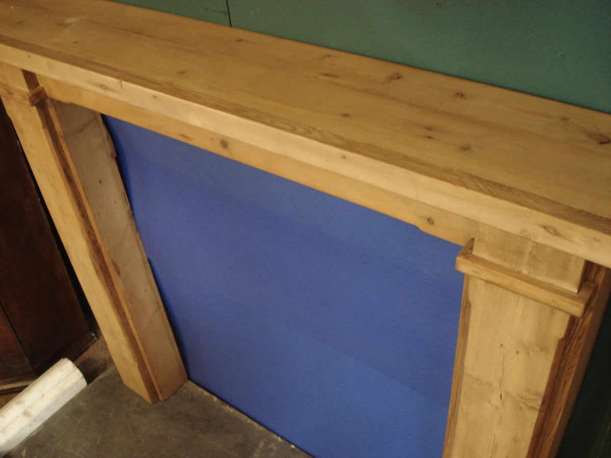 Shaker style fire surround made out of OldPine