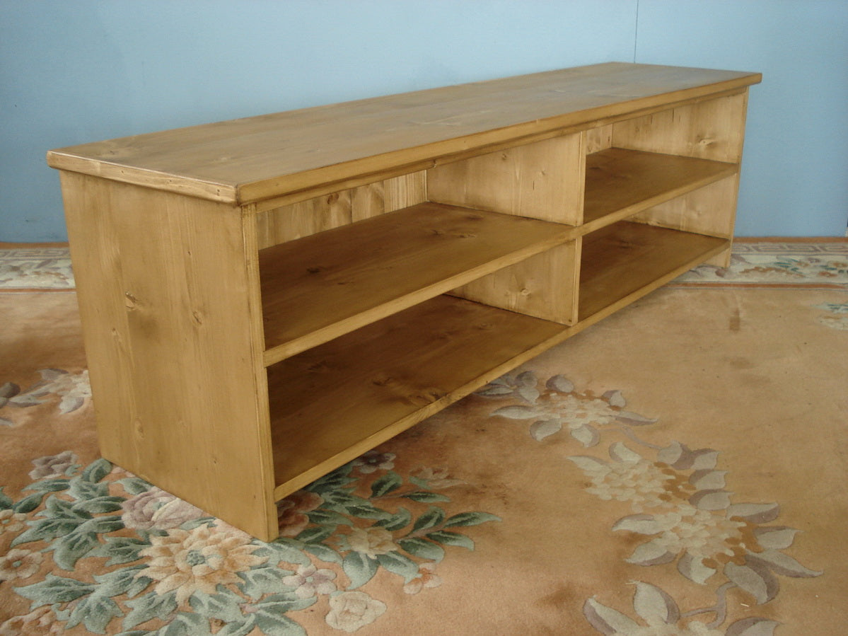 Large Honey Pine Shoe Seat
