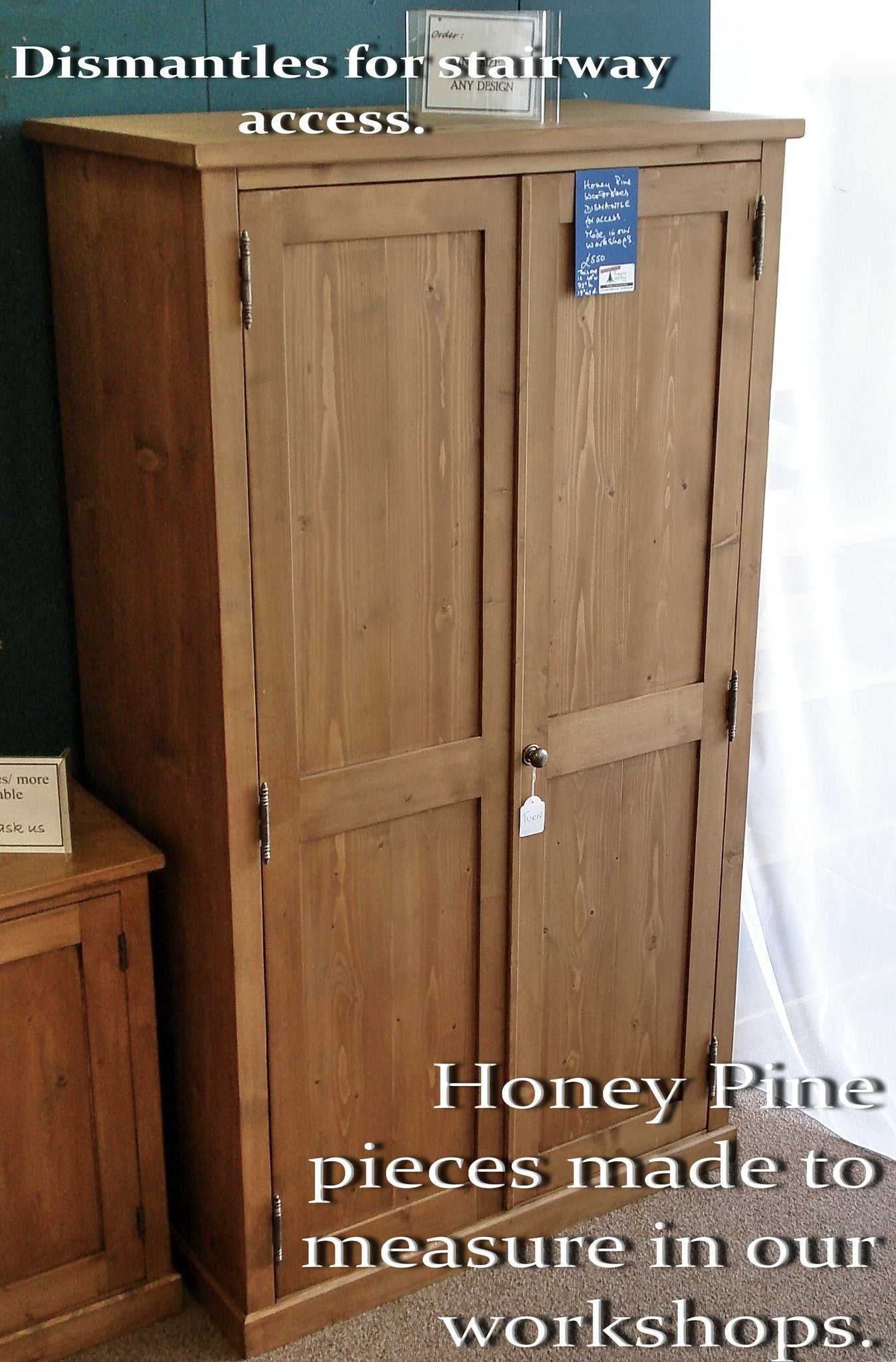 Honey Pine 'Classic' Country Double  Wardrobe. Made to Measure