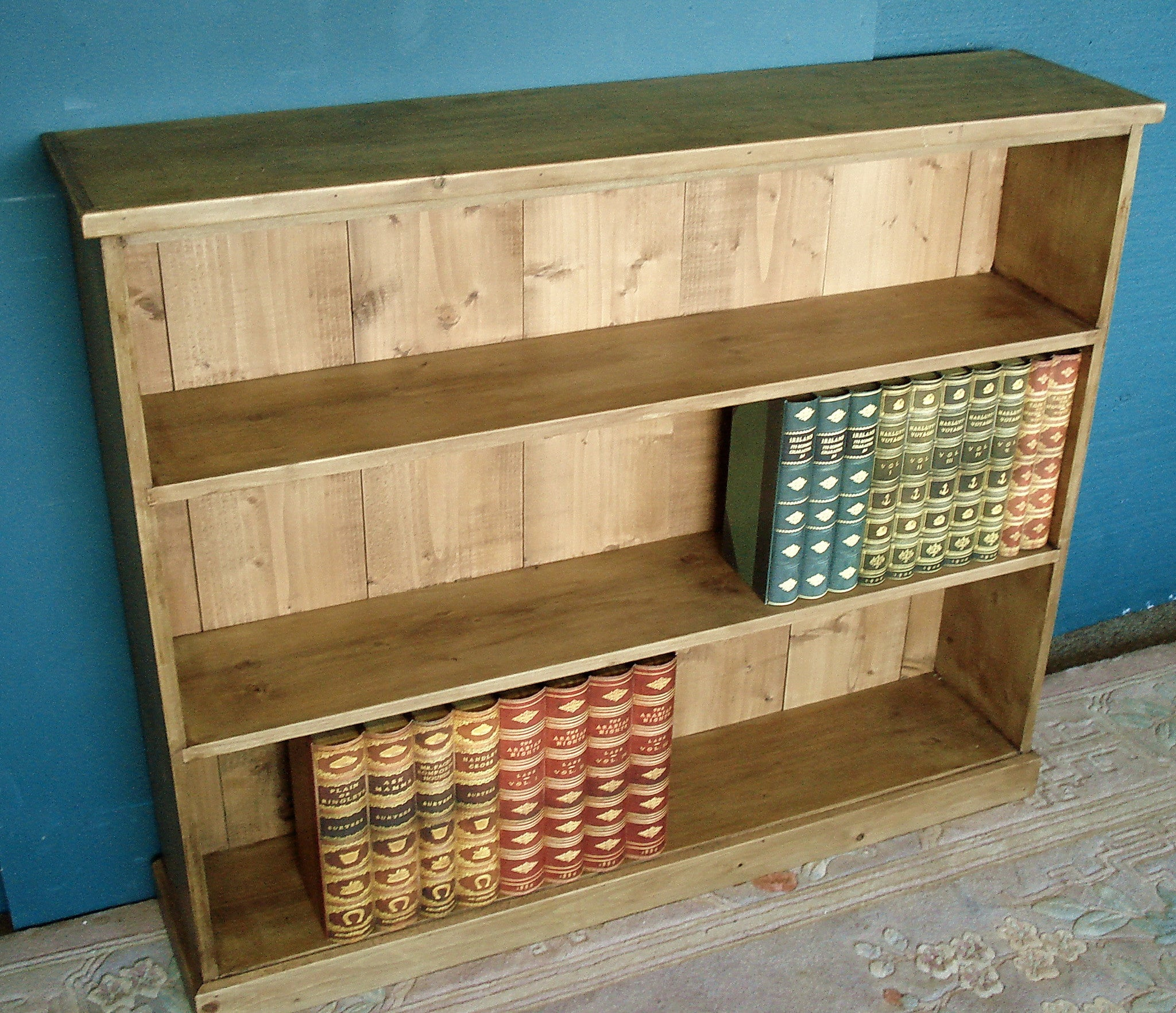 Honey Pine Bookshelves