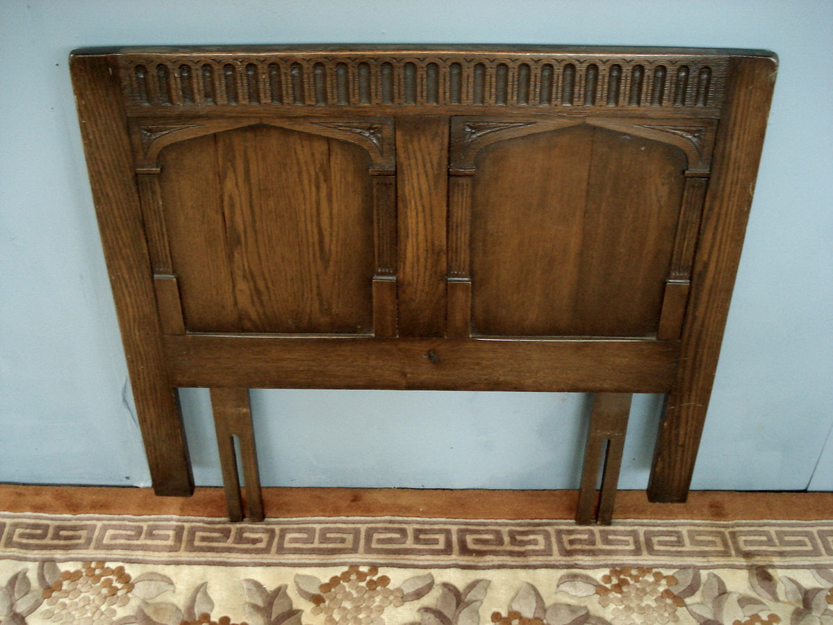 Oak 3ft single headboard