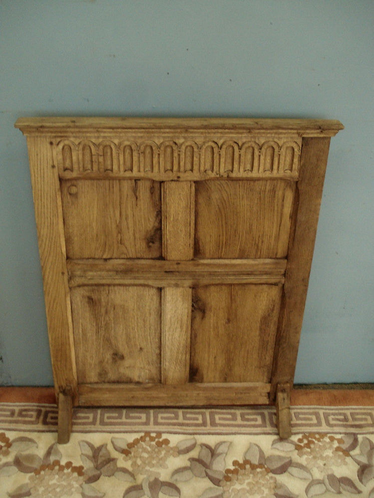 Period oak firescreen