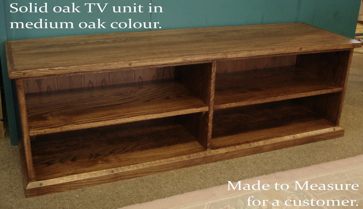 Solid oak Hand Made  tv cabinet.