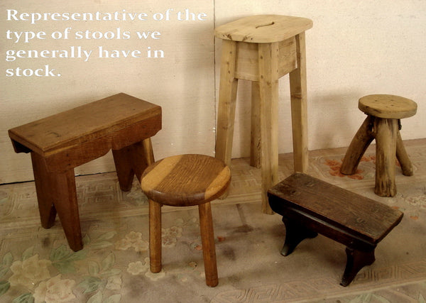 A variety of country made stools