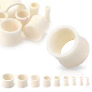 Bone Organic Saddle Fit Tunnel Plug - Sold in Pairs