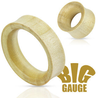 White Crocodile Wood Saddle Fit Hollow Tunnels Organic - Sold in Pairs