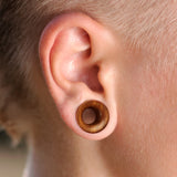 Saba Wood Concave Double Flare Tunnels- Sold as a pair.