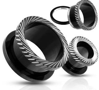 Grooved Cuts Blackline Titanium IP Over Surgical Tunnels- Sold in Pairs