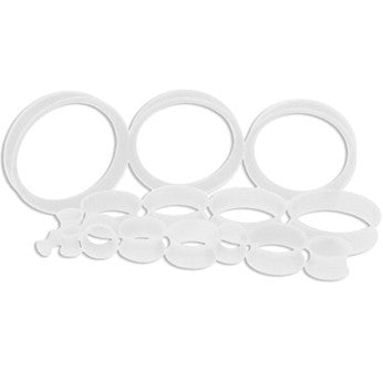 Clear Silicone Tunnels-  Thin walled- Sold in Pairs