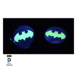 Batman Logo -Glow in the dark- Screw fit plugs  Sold in pairs.