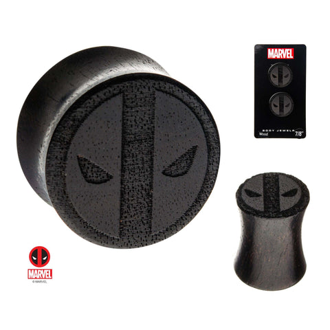Deadpool Double Flare Iron Wood Plugs