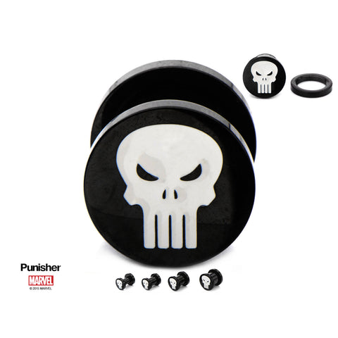 Punisher Logo Plugs. Sold as Pair