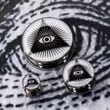 Masonic Eye Front Screw Fit Steel Plugs-Sold as a pair