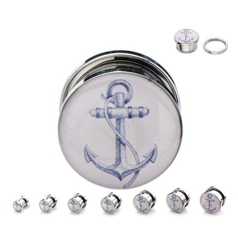 Anchor Logo Plugs - Sold in Pairs