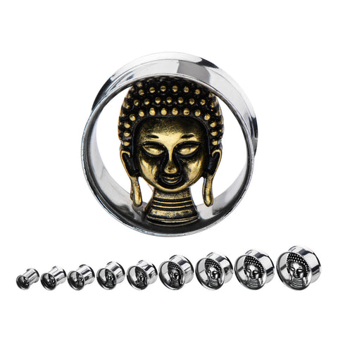 Buddah Face Plugs-two sided(one steel face & one copper face).  Sold in pairs.  xx