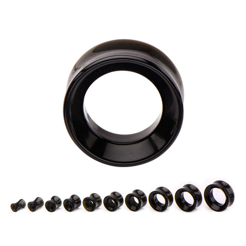 Black Onyx tunnels-Sold in pairs
