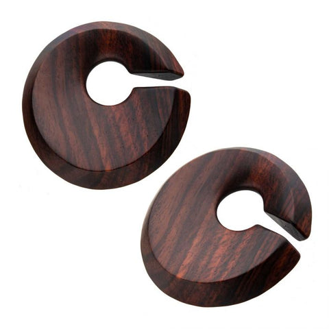 Sono Wood Circle Hoop Hangers-Sold as a Pair