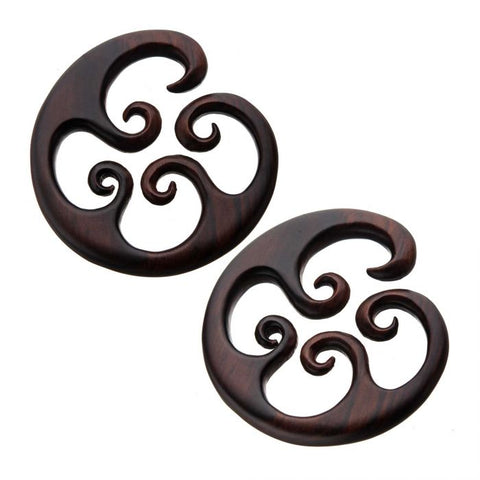 Sono Wood Swirl Hoop Hangers-Sold as a Pair