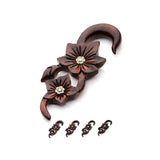Flower Hangers with Brass inlays. Sold in Pairs.