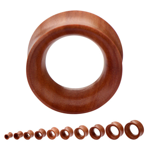 Red Saba Wood Tunnels.  Sold in Pairs.
