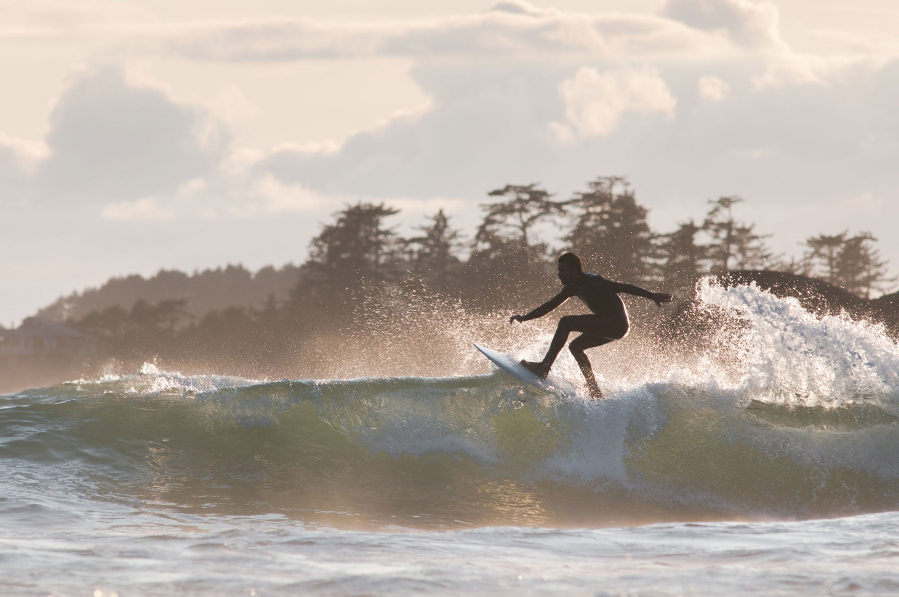 Joao shredding in Tofino