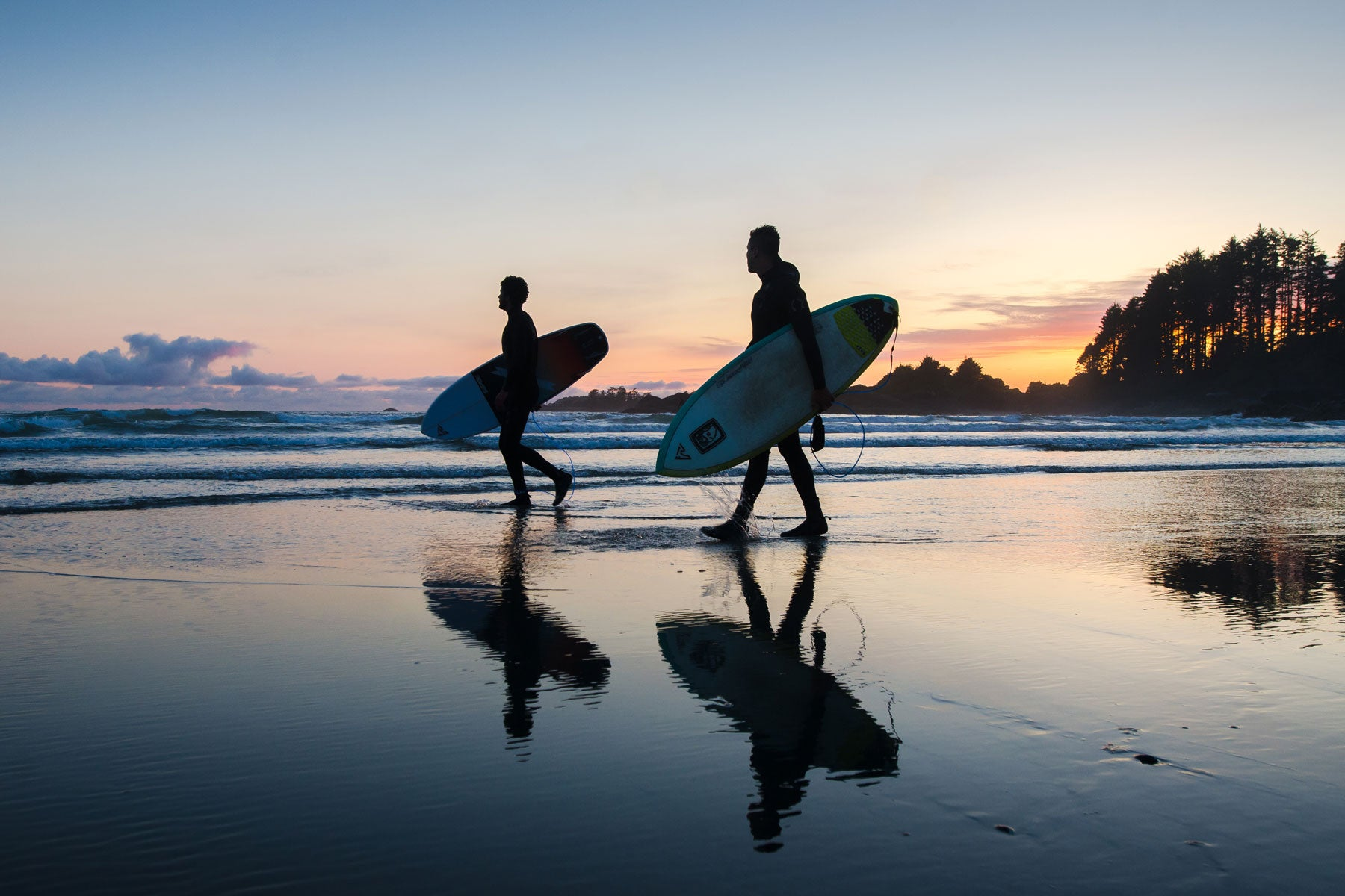 Sunset sessions at Cox Bay, Tofino