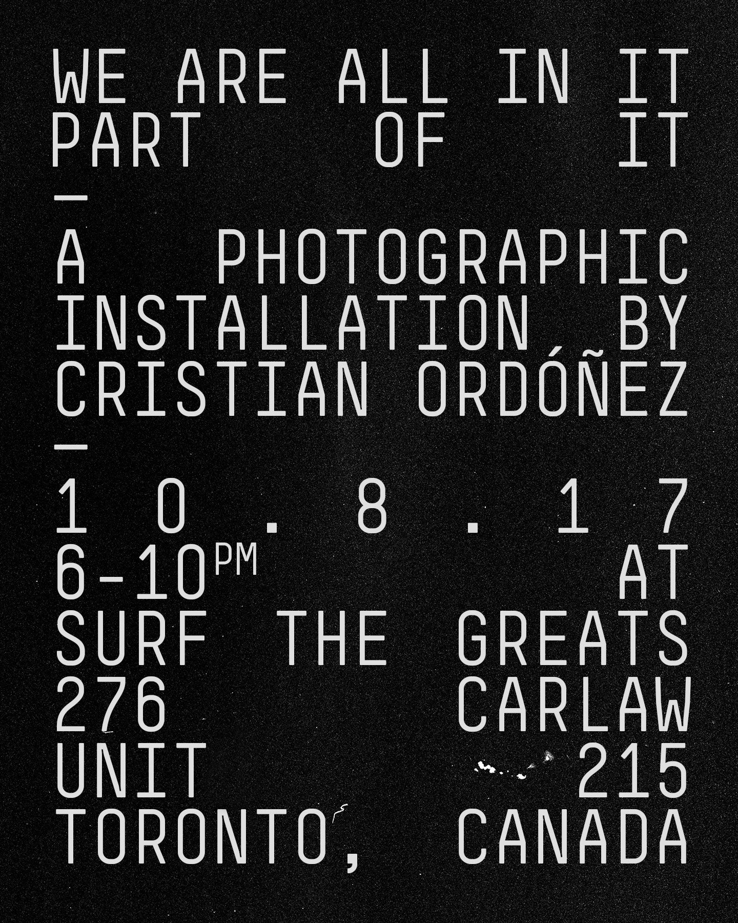 Cristian Ordonez Installation at Surf the Greats