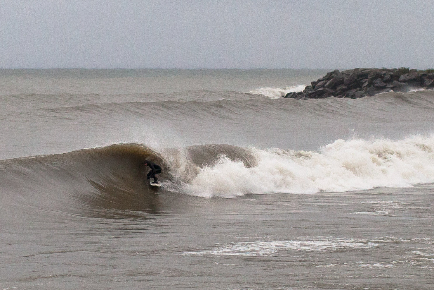 Surfing on Lake Ontario Surf the Greats Great Lakes Barrel by Lucas Murnaghan