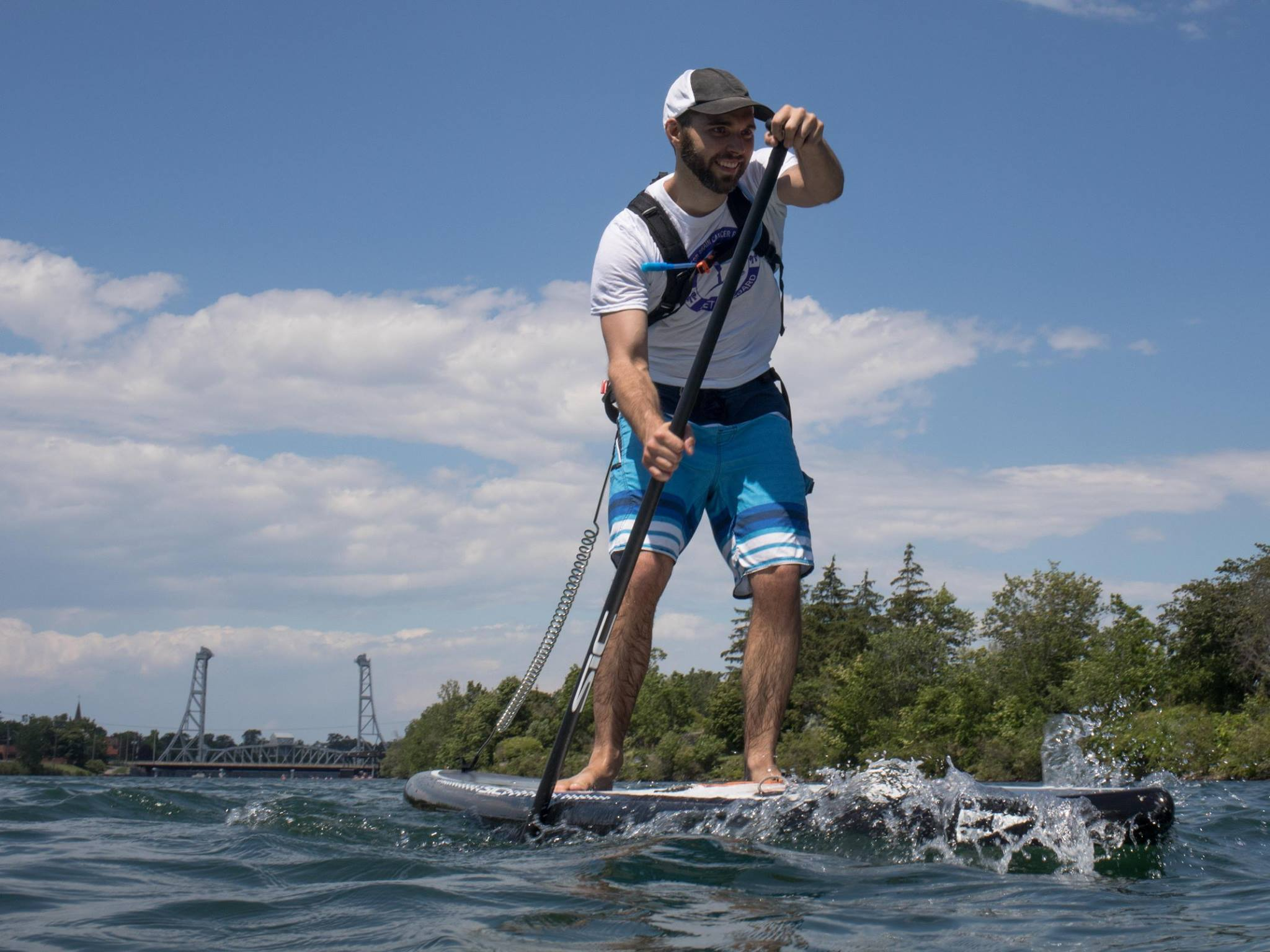 Maddi Leblanc On Board Standup Paddleboarding Fundraiser Canada by Lucas Murnaghan