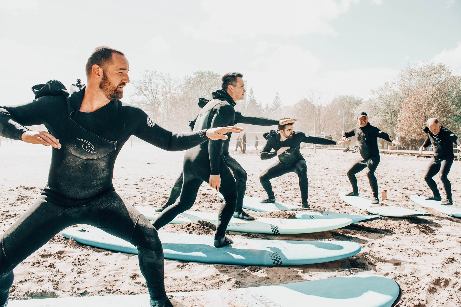Learn to surf on the Great Lakes Surf in Toronto Surf School