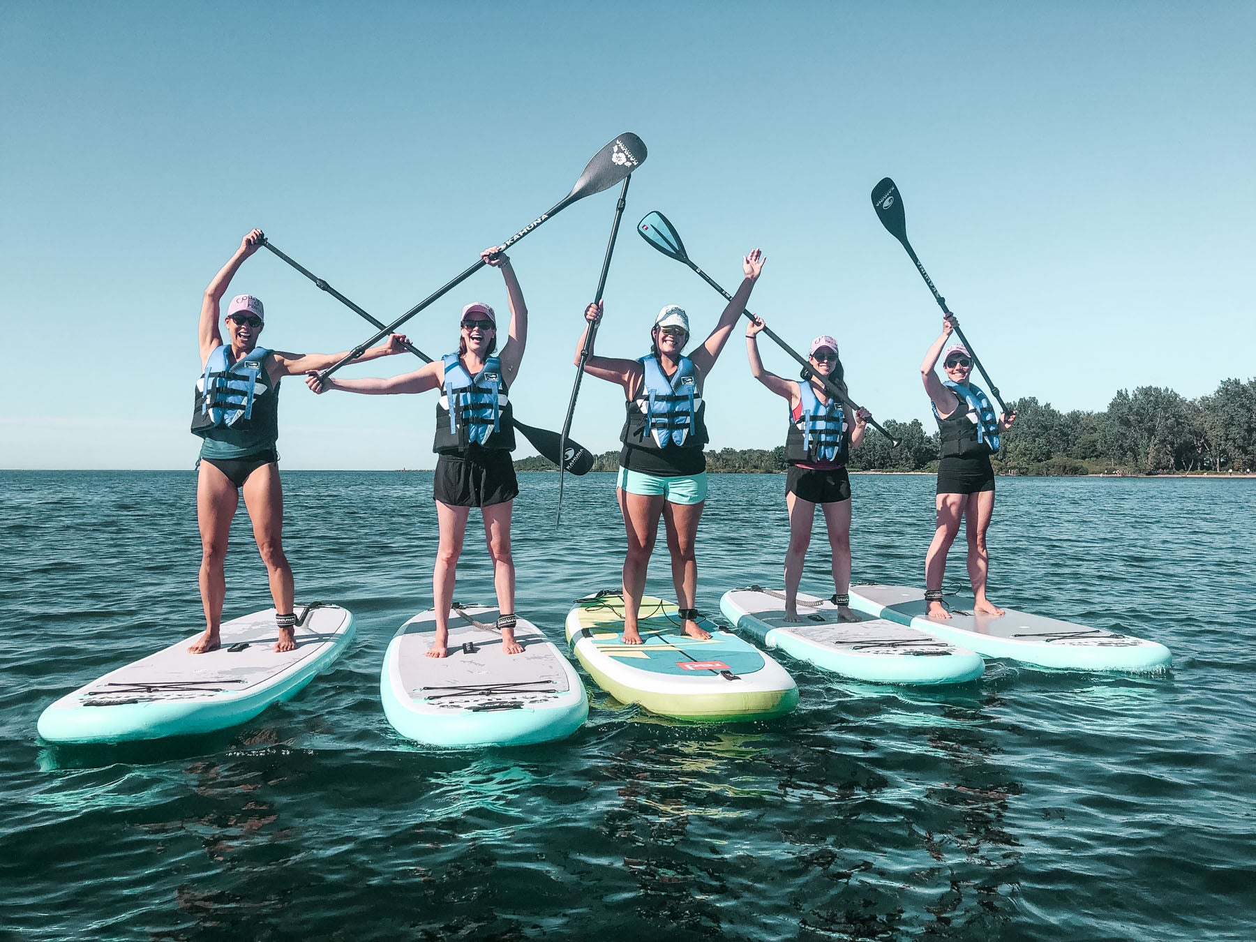 Standup Paddleboarding SUP group tours in Toronto, Canada