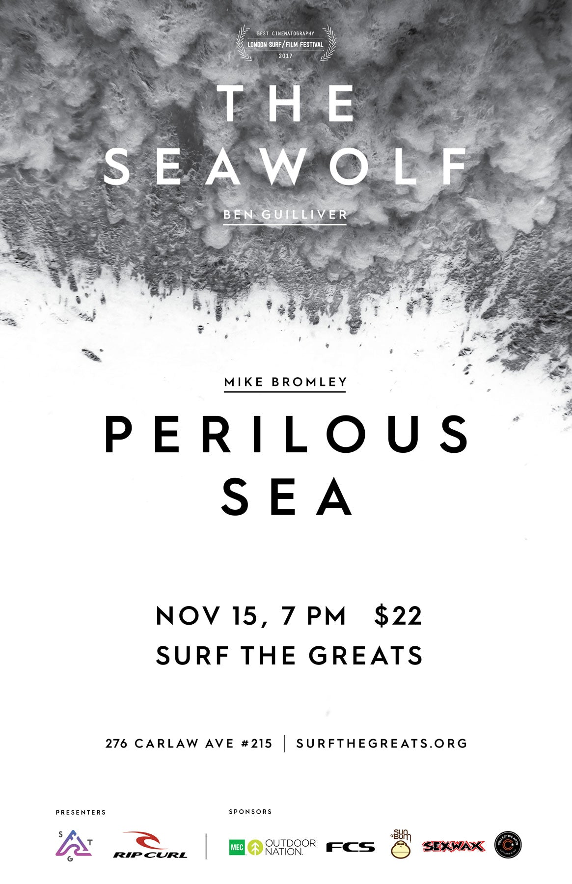 The Seawolf Perilous Sea Canadian Surf Film Screening