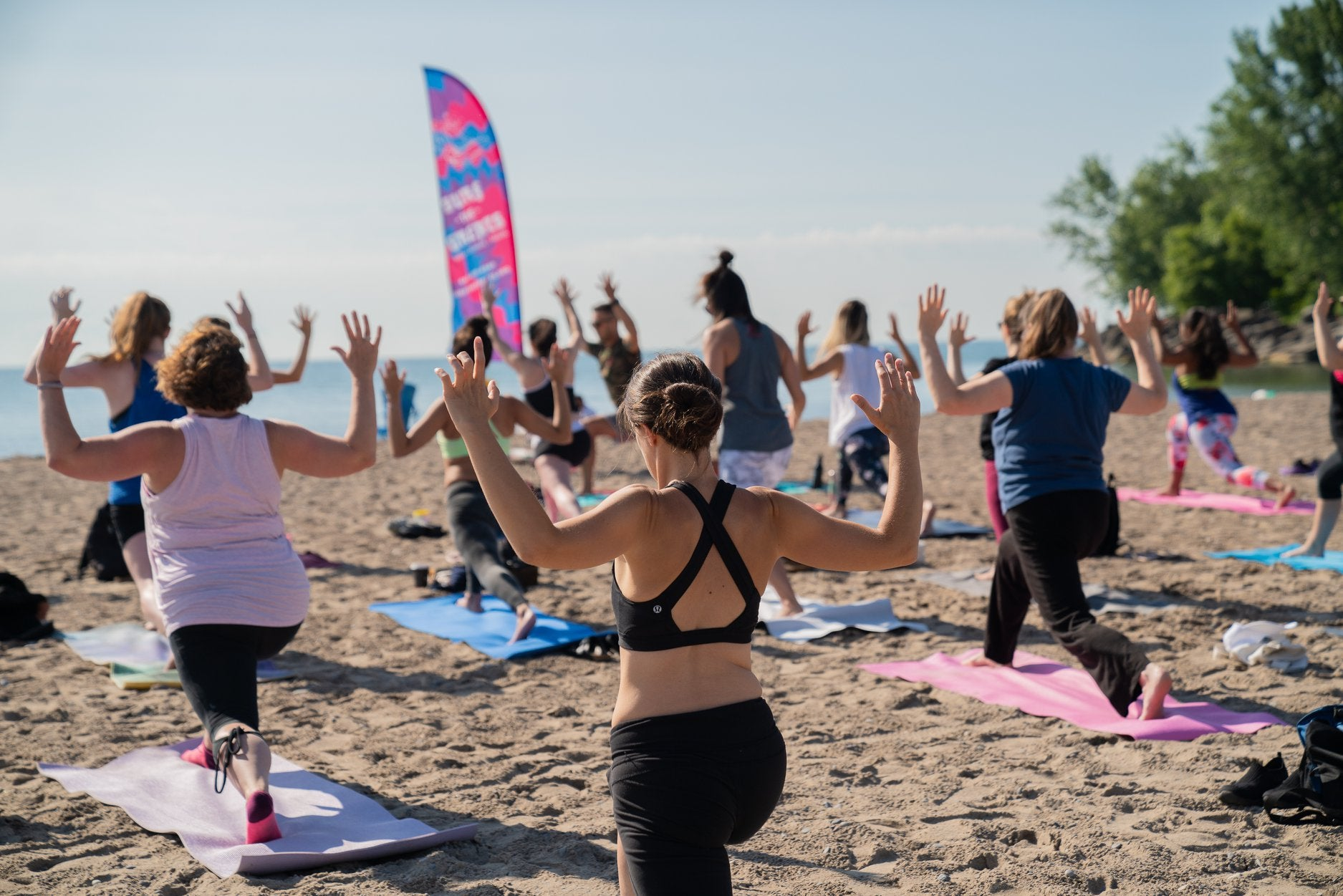 Surf the Greats Tidal Flow Yoga Beach Yoga She Shreds Toronto Ontario Lake Surfing