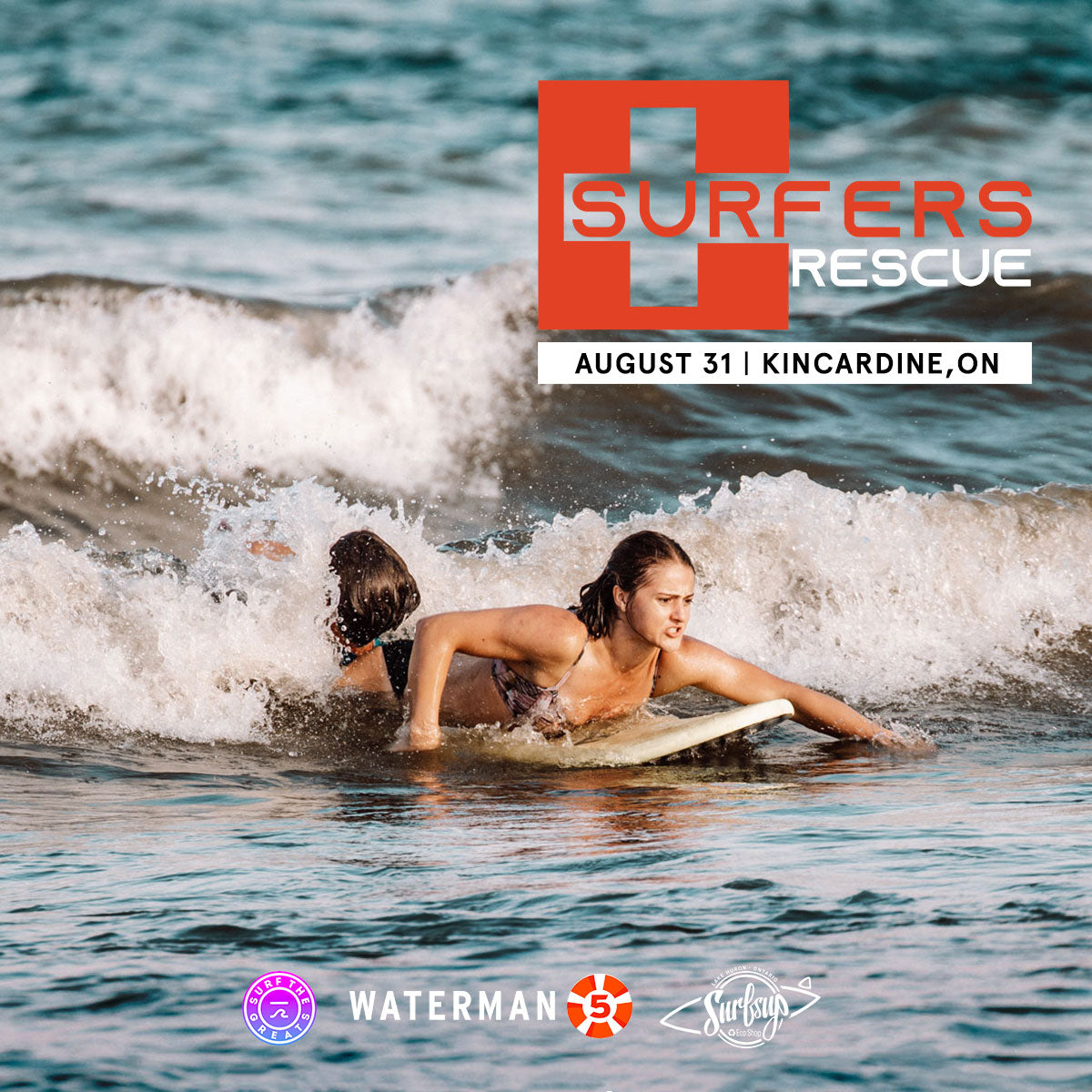 Surfer's Rescue Course Kincardine, ON Great Lakes ISA International Surfing Association