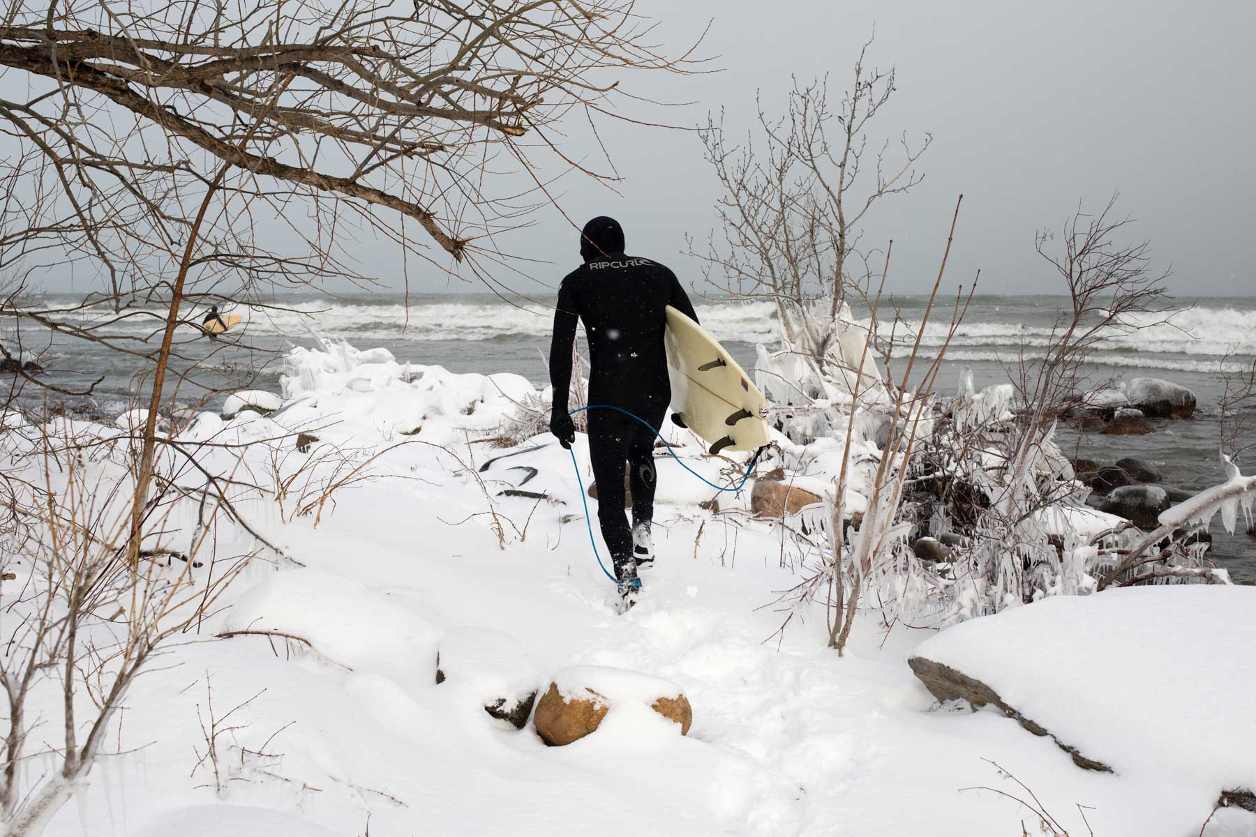 Surf the Greats Winter Surfing Great Lakes by Lucas Murnaghan Wetsuit Guide Ontario