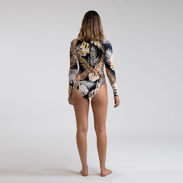 Rhythm Sumatra Long Sleeve One-Piece - Black