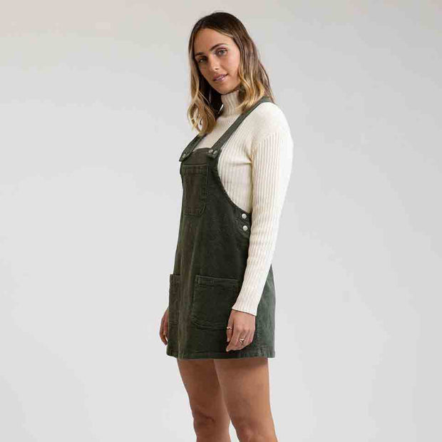 Rhythm Edinburgh Pinafore Dress - Forest