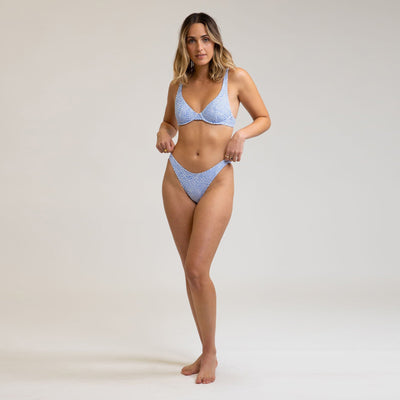Rhythm Mozambique Underwire Bikini Top - Cornflower