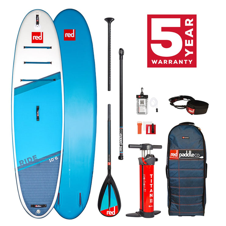 PRE-ORDER FOR MAY - Red Paddle Co. 10'6 Ride MSL Inflatable SUP Package - 2021